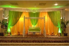 How to play with colours for wedding stage decor sulekha home talk or brown and green it may look environment conscious but it is also soothing and guaranteed to take your guests by surprise junglespirit Image collections