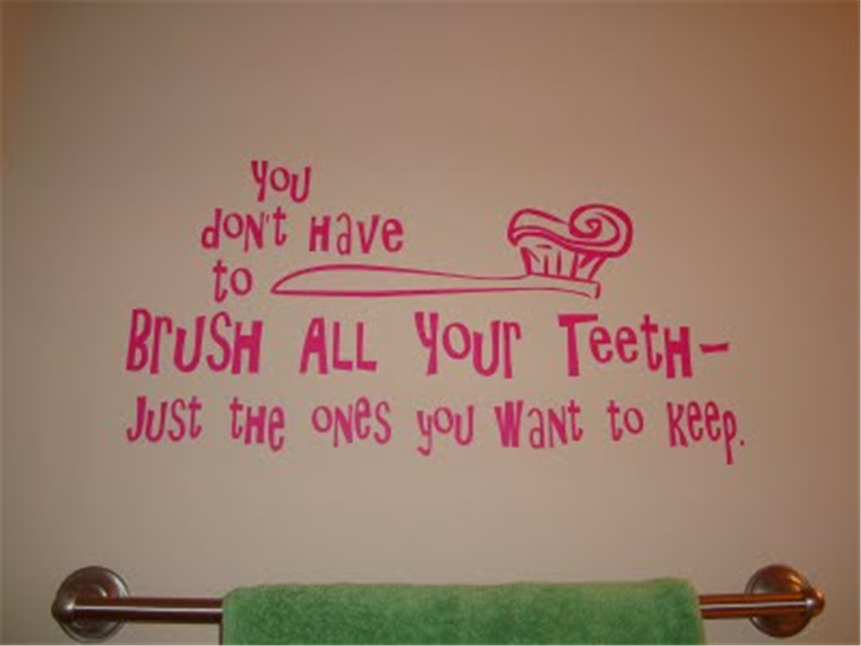 bathroom wall quotes stickers pink by Gayathri Lakshmanan in. Quotes For Bathroom
