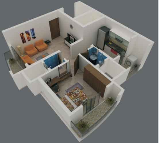 Low budget and comfortable apartments in tambaram for 1 bhk living room interior
