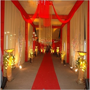 flower decoration in wedding halls