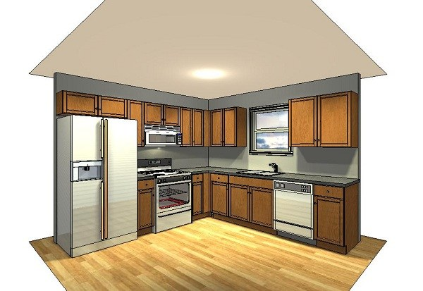 Modular kitchen 10x10 home design and decor reviews for 10x10 kitchen layout ideas