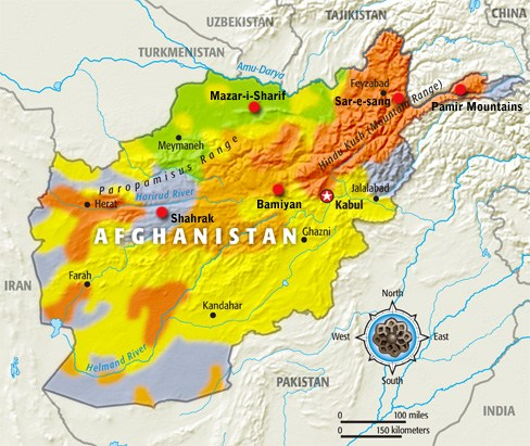 on hindu kush map locati