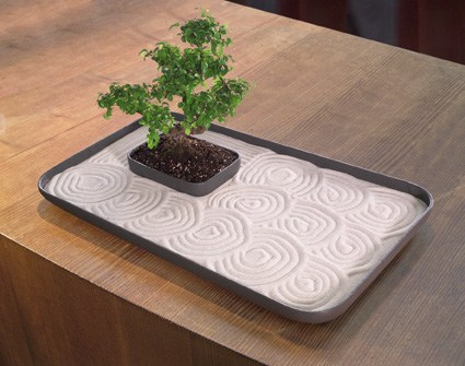 Nature connect stressed out energize your work spot with for Table zen garden