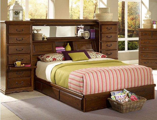 Repurposed Twin Captains Beds Into King