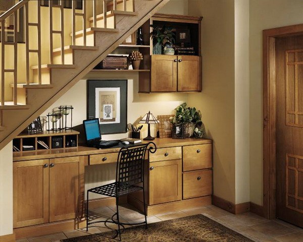 Www.homedit.com. Create Racks And Shelves Under The Stairs