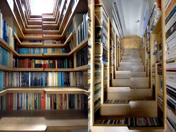 Who Would Have Stepped On Staircases Lined With Books Doesnt It Look Like A Book Chamber Or Library From One Of Those Harry Potter Movies