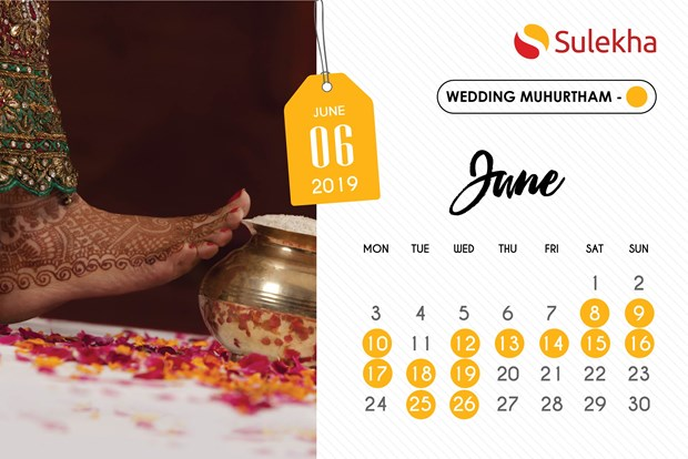 April 2019 To June 2019 Auspicious Wedding Dates And Timings