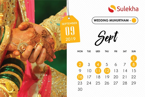 July 2019 To September 2019 Wedding Muhurtam Date And Timings