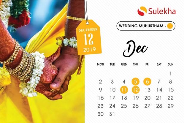 October 2019 To December 2019 Wedding Muhurtam Date And Timings