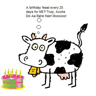COWS WILL SOON CELEBRATE BIRTHDAYS EVERY 25 DAYS - THANKS TO VEDIC SCHOLAR !